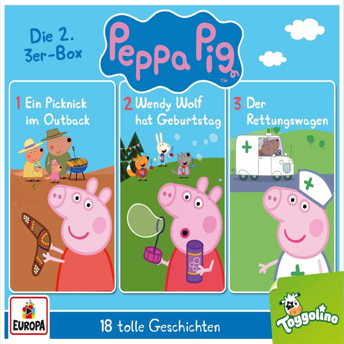 Peppa Pig (Peppa Wutz) - Die 2. 3er-Box (Folgen 4, 5, 6)