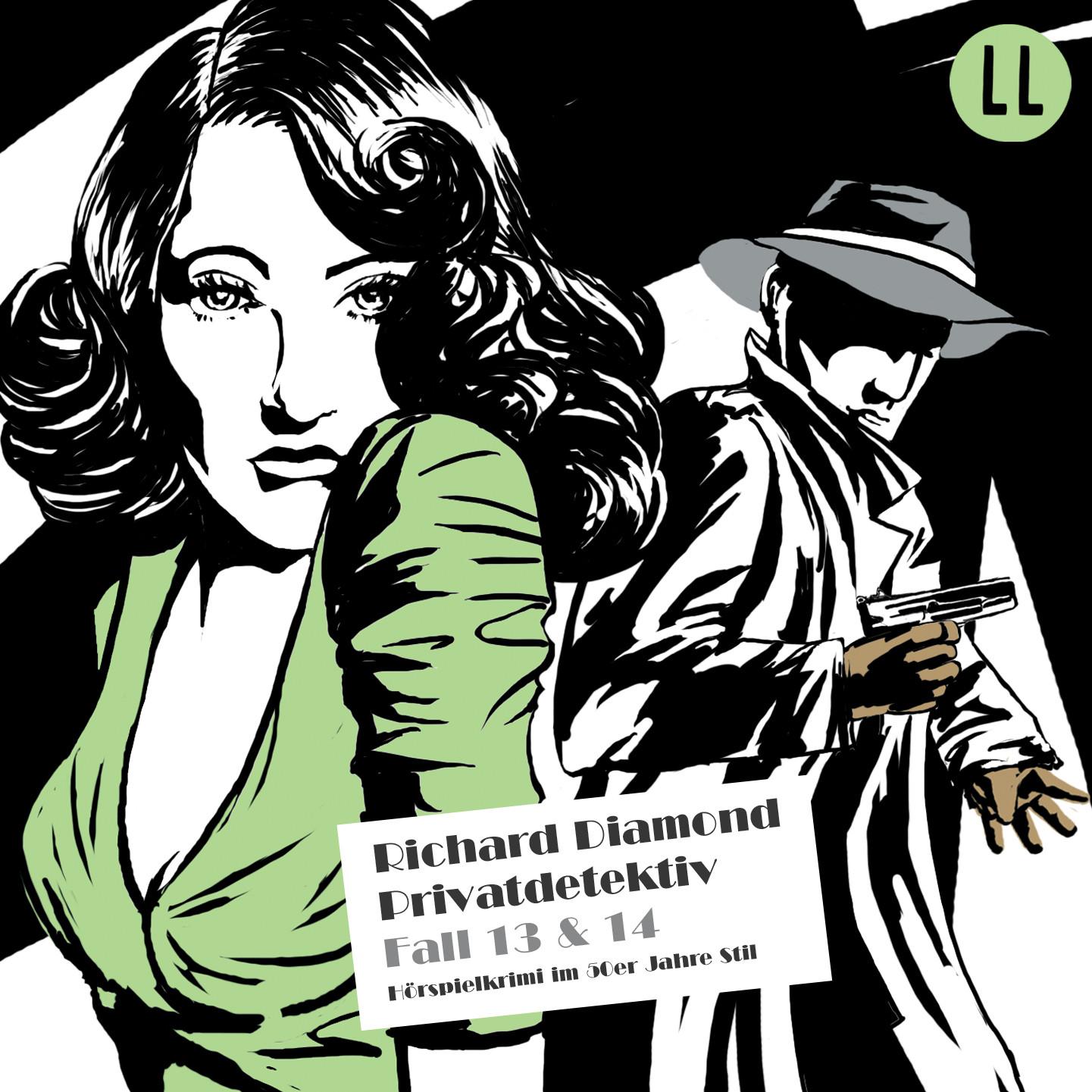 Richard Diamond 13 + 14 Der Fall Caspary / Der Metzgerladen