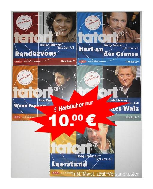 XXL HÖRBUCH-PAKET 5 x Tatort Krimi