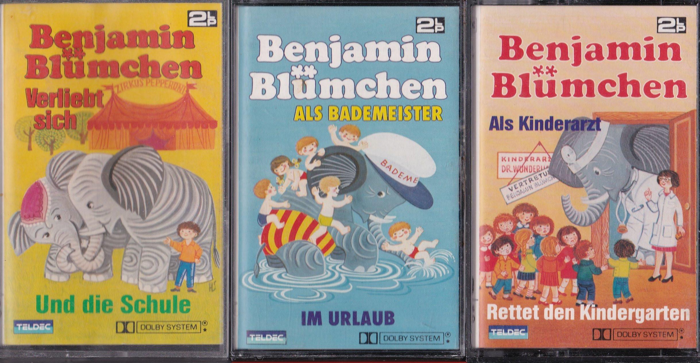 MC Kiosk/Teldec Benjamin Blümchen Doppel-Folgen-Paket (3 MCs)