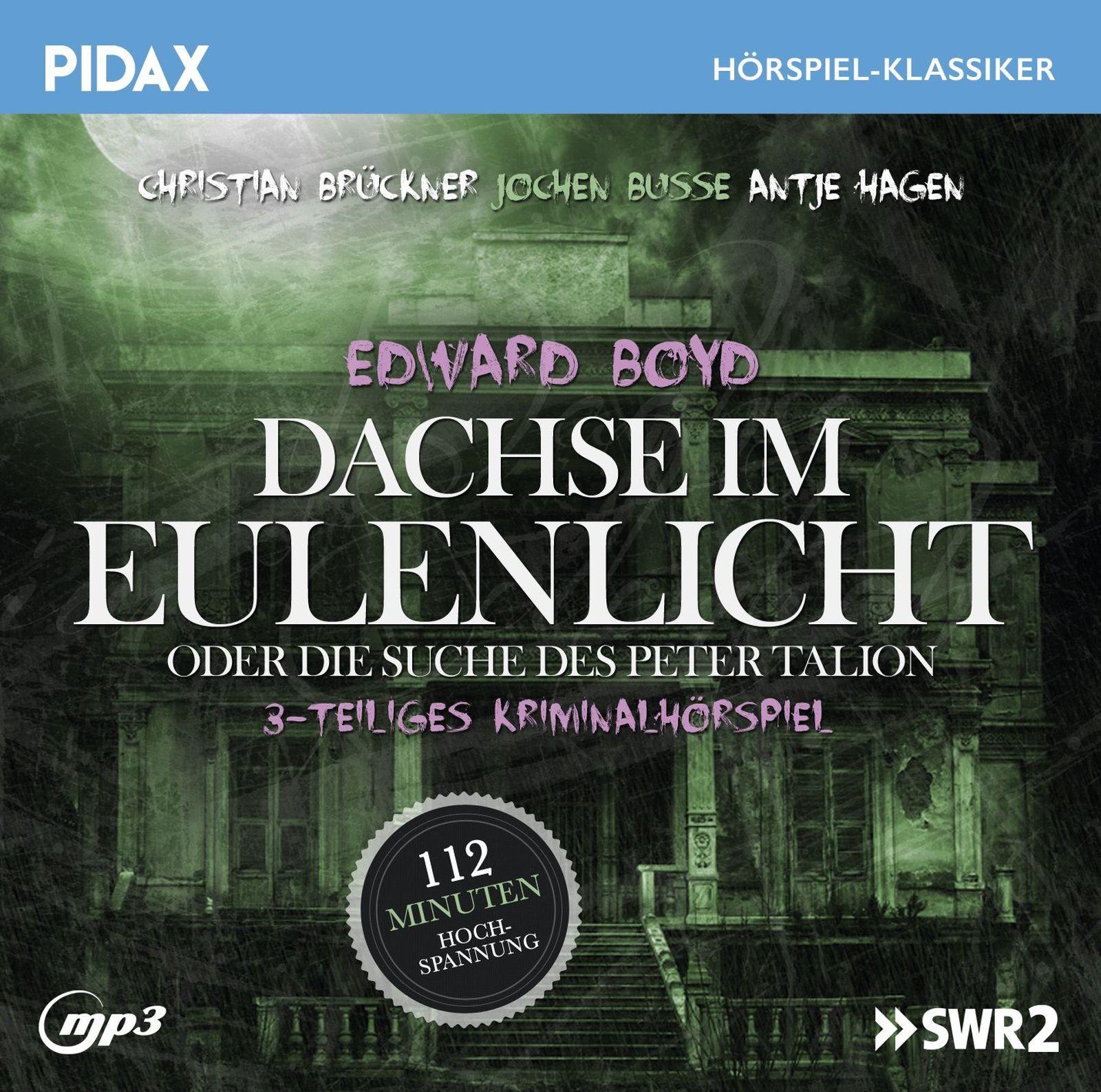 Pidax Hörspiel Klassiker - Dachse im Eulenlicht