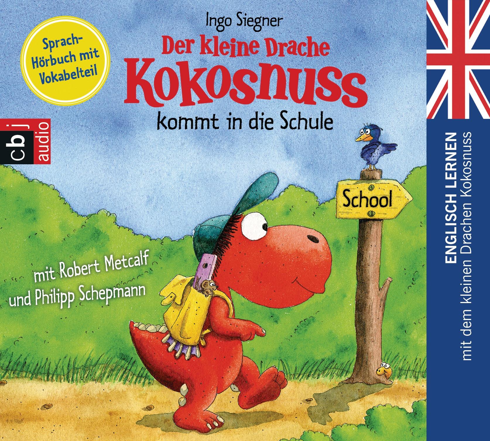 Der kleine Drache Kokosnuss kommt in die Schule - Englisch lernen