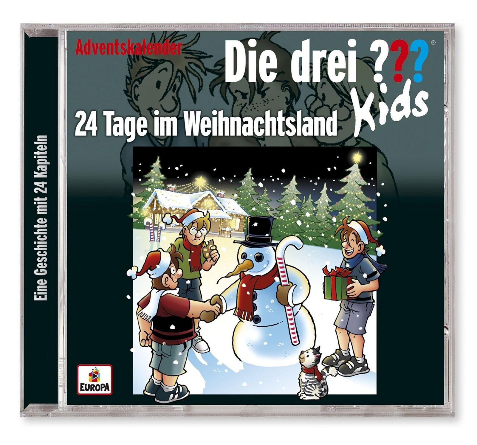 Die drei ??? Kids: Adventskalender 2016 - 24 Tage im Weihnachtsland (2 CD)