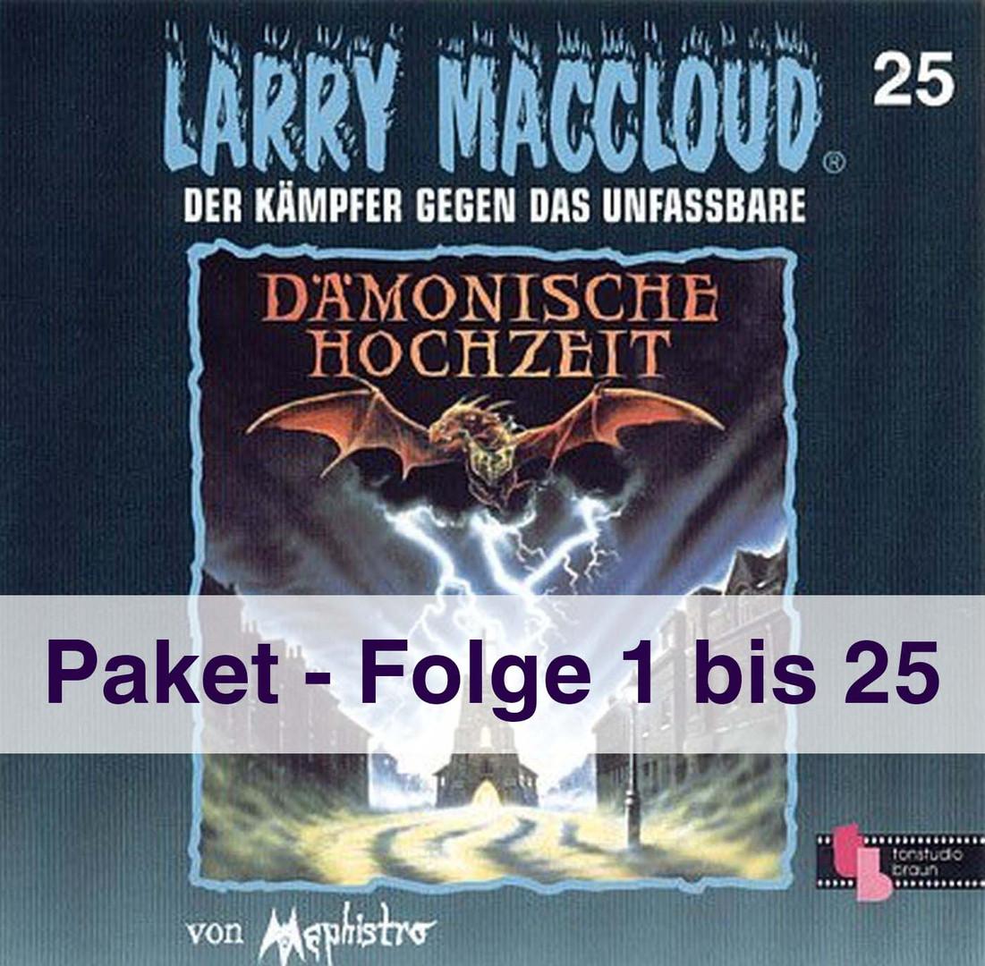 Larry MacCloud Paket Folge 1 - 25  auf CD