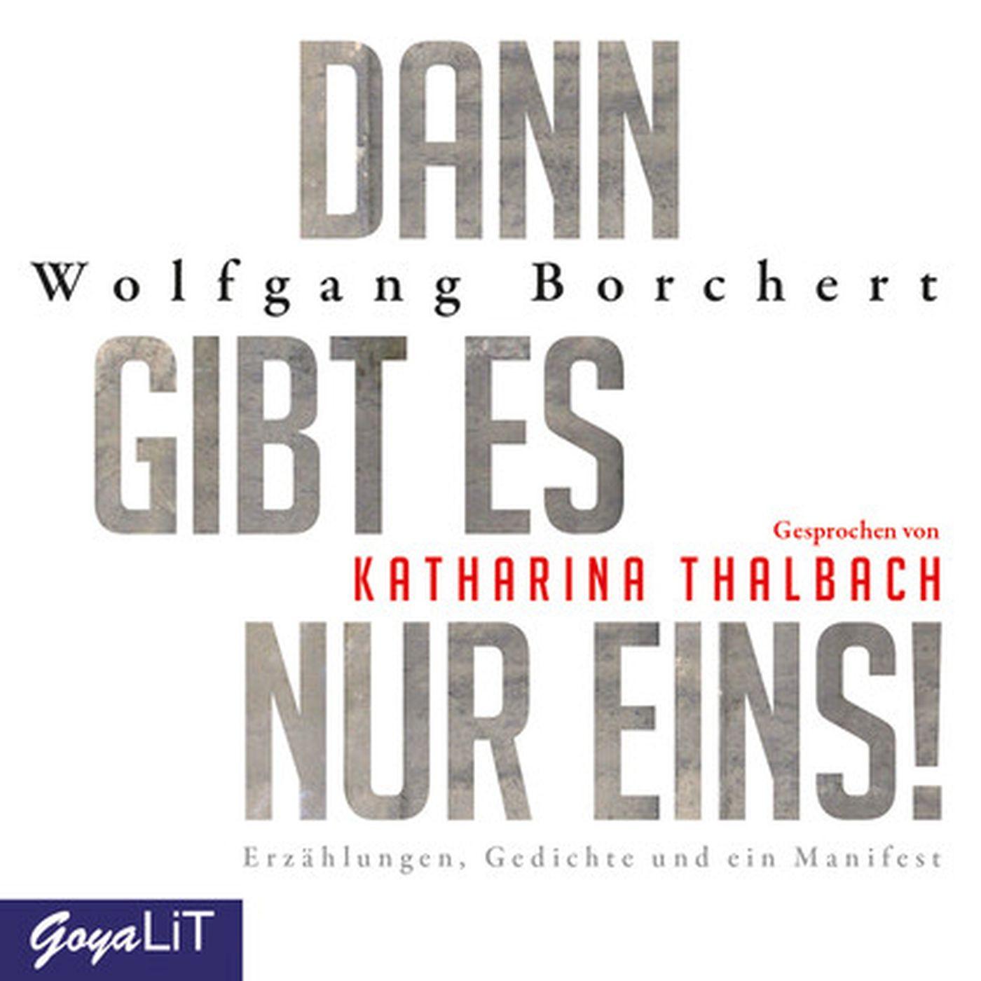 Wolfgang Borchert - Dann gibt es nur eins! Erzählungen, Gedichte und ein Manifest
