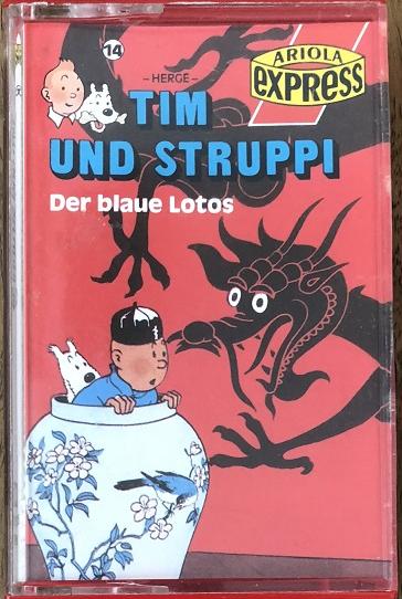 MC Ariola Express Tim und Struppi 14 Der blaue Lotus