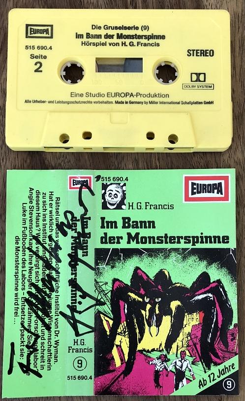 MC Europa Gruselserie 9 Original signiert H. G. Francis !!!