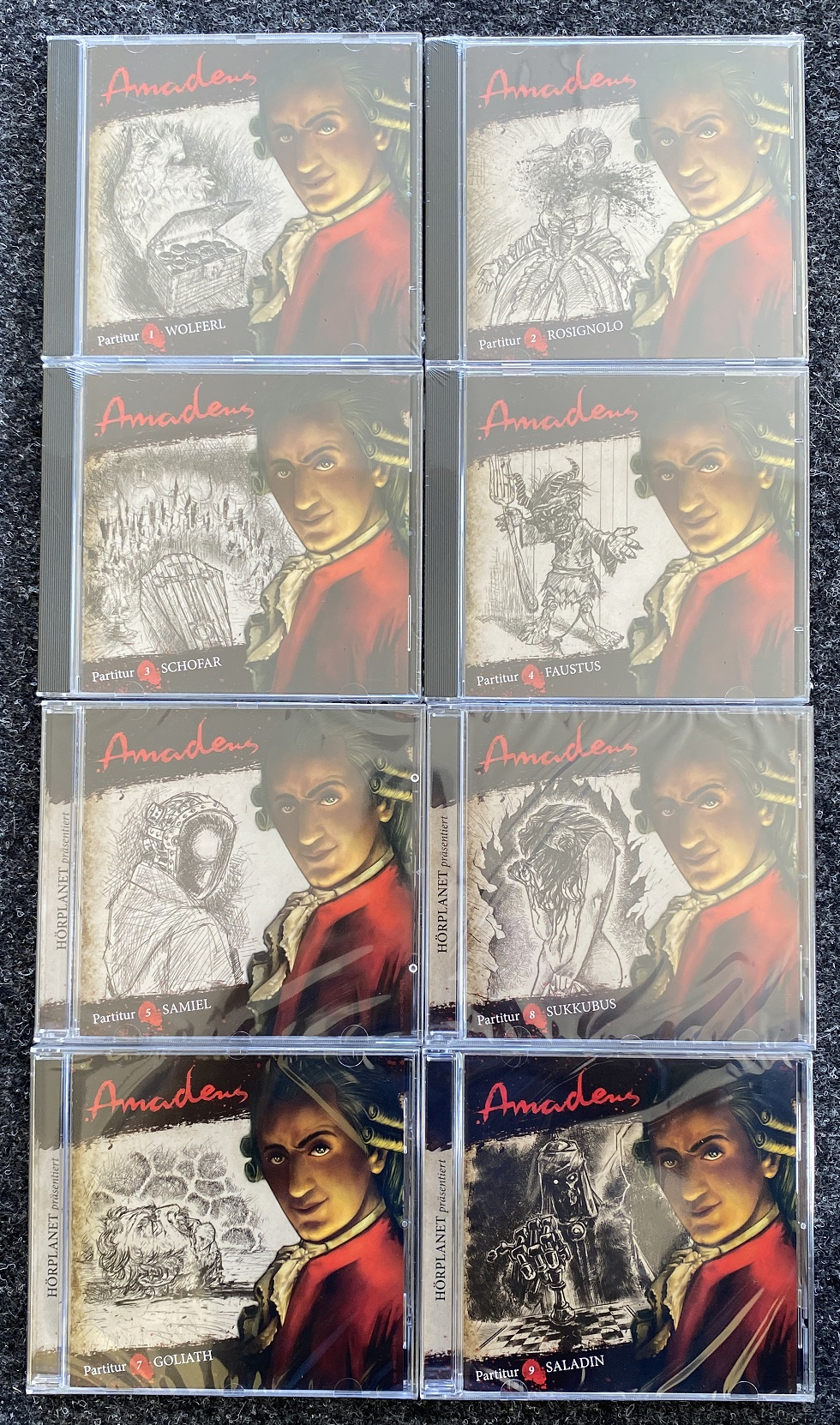Amadeus - Partitur 8 Folgen aus 1 bis 9 im Paket