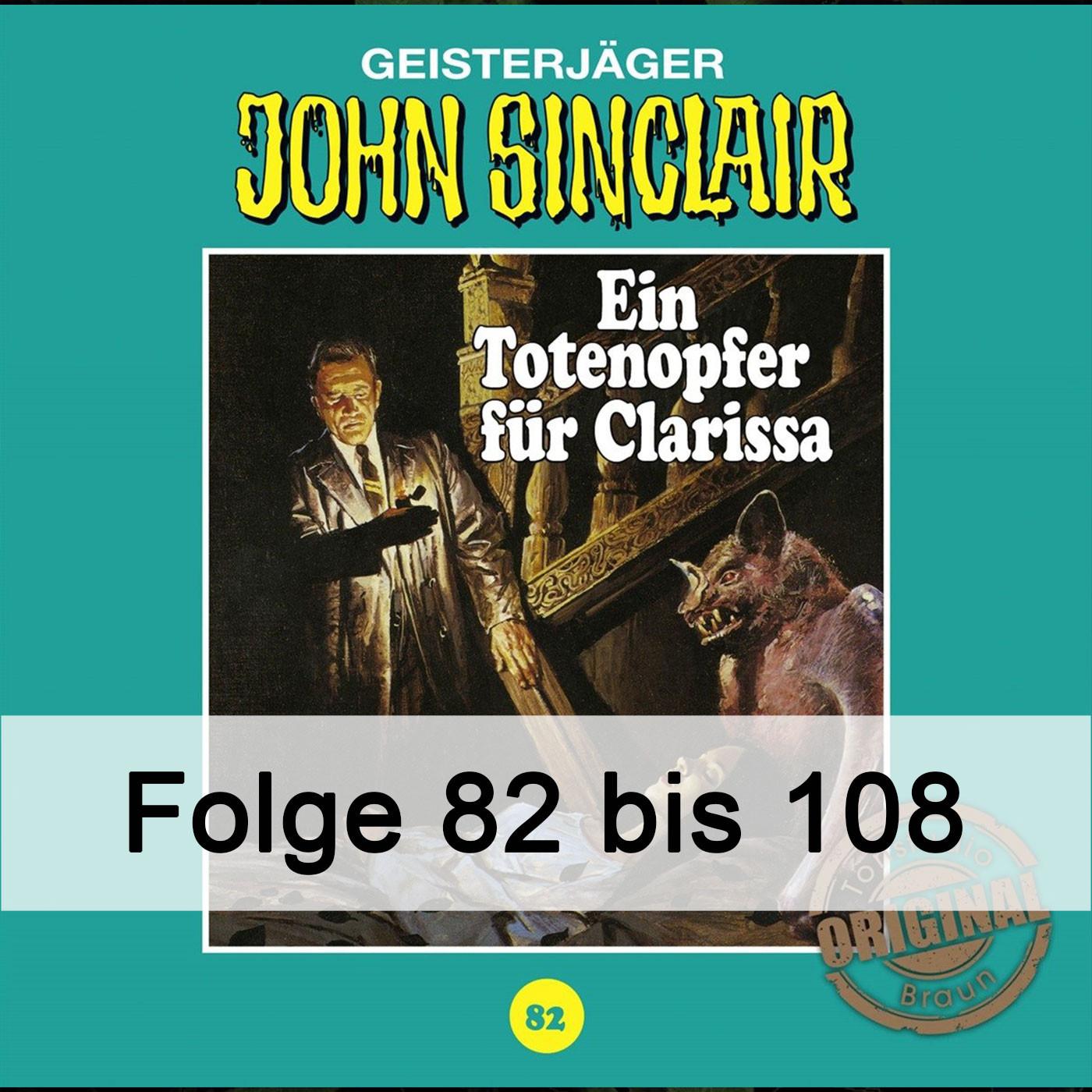 John Sinclair Tonstudio Braun - Paket - Folge 82 bis 108