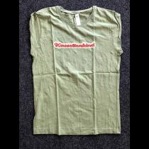 T-Shirt Kassettenkind Olivgrün für Frauen Größe M