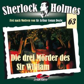 Maritim Sherlock Holmes 63 - Die Drei Mörder Des Sir William