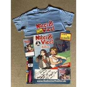 Nicci & Vicci und das Karpatenkalb (limitiertes Fanpaket) - T-Shirt Größe M