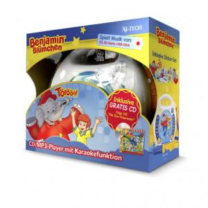 Benjamin Blümchen Kinder CD-Player CD, SD, USB Inkl. Mikrofon, Inkl. Karaoke-Funktion