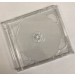 CD Doppel Leerbox schmal transparent